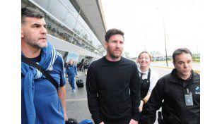 Messi llegó a Rosario, donde pasará el fin de semana antes de la Copa América Centenario