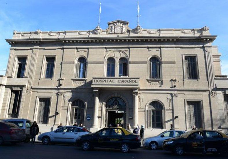 El hospital Español en la ciudad de Rosario.