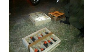 Gendarmería rescató aves de distintas especies enjauladas en el baúl de un auto