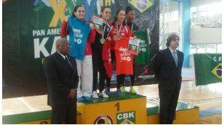 Giuliana Novak obtuvo oro en el Panamericano de Karate de Río de Janeiro