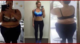 La increíble transformación de la mujer que documentó en Instagram cómo perdió 88 kilos en 20 meses