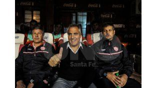 Madelón se mostró feliz por la campaña que realizó el equipo y lo demostró en el último partido ante Estudiantes. Foto: Mauricio Centurión / UNO Santa Fe
