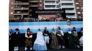 El gobernador Miguel Lifschitz durante su discurso por el festejo del 25 de Mayo. // Mauricio Centurión/ UNO Santa Fe