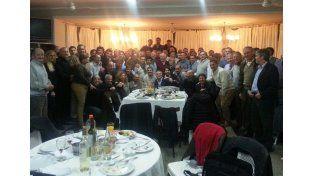 En El Quillá. Los intendentes junto al mandatario provincial