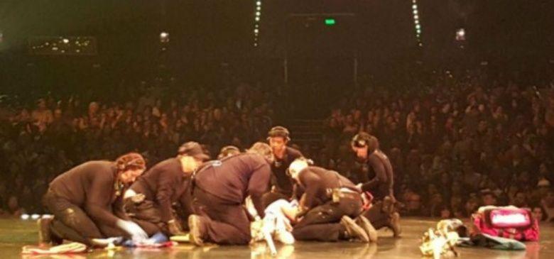 Comunicado oficial sobre la salud del acróbata herido en el Cirque du Soleil