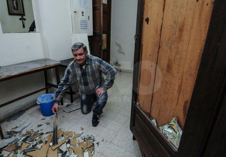 Es el séptimo robo en dos años que sufre la iglesia. Foto: Mauricio Centurión
