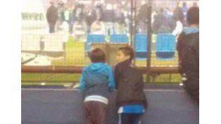 La emocionante foto de los niños hinchas de Racing