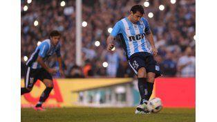 Racing festejó en el último partido de Diego Milito