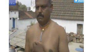El extraño fenómeno del hombre imán de la India que atrae los metales