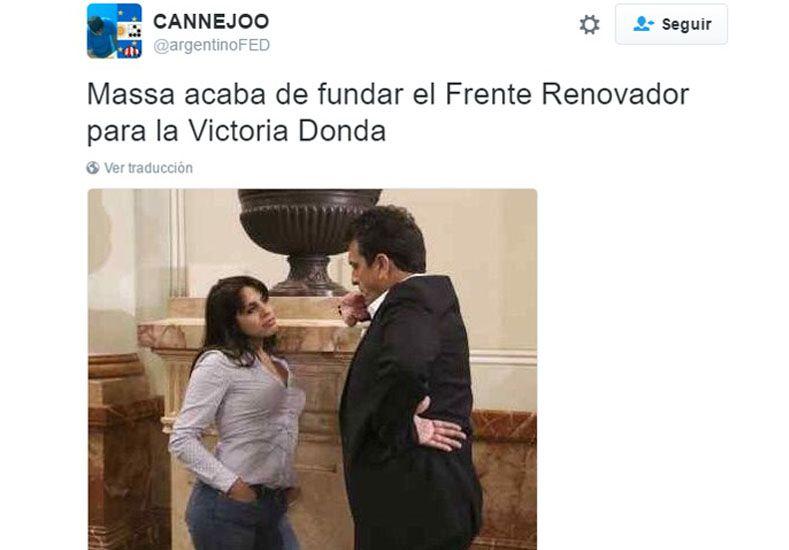Twitter se hizo eco de la foto de Donda y Massa en el Congreso