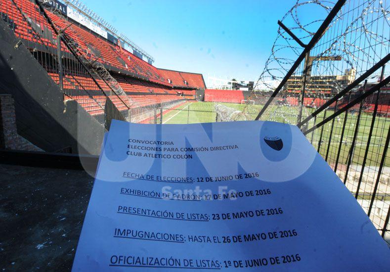 Quedan pocos días para que los socios de Colón tengan las opciones para votar el 12 de junio / Foto: José Busiemi - Uno Santa Fe