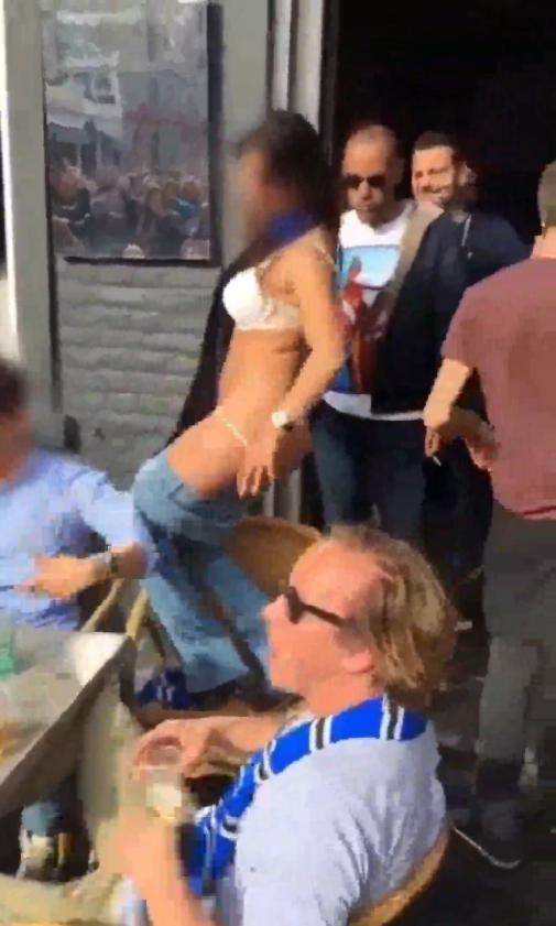 Se desnudó para festejar el campeonato y terminó presa
