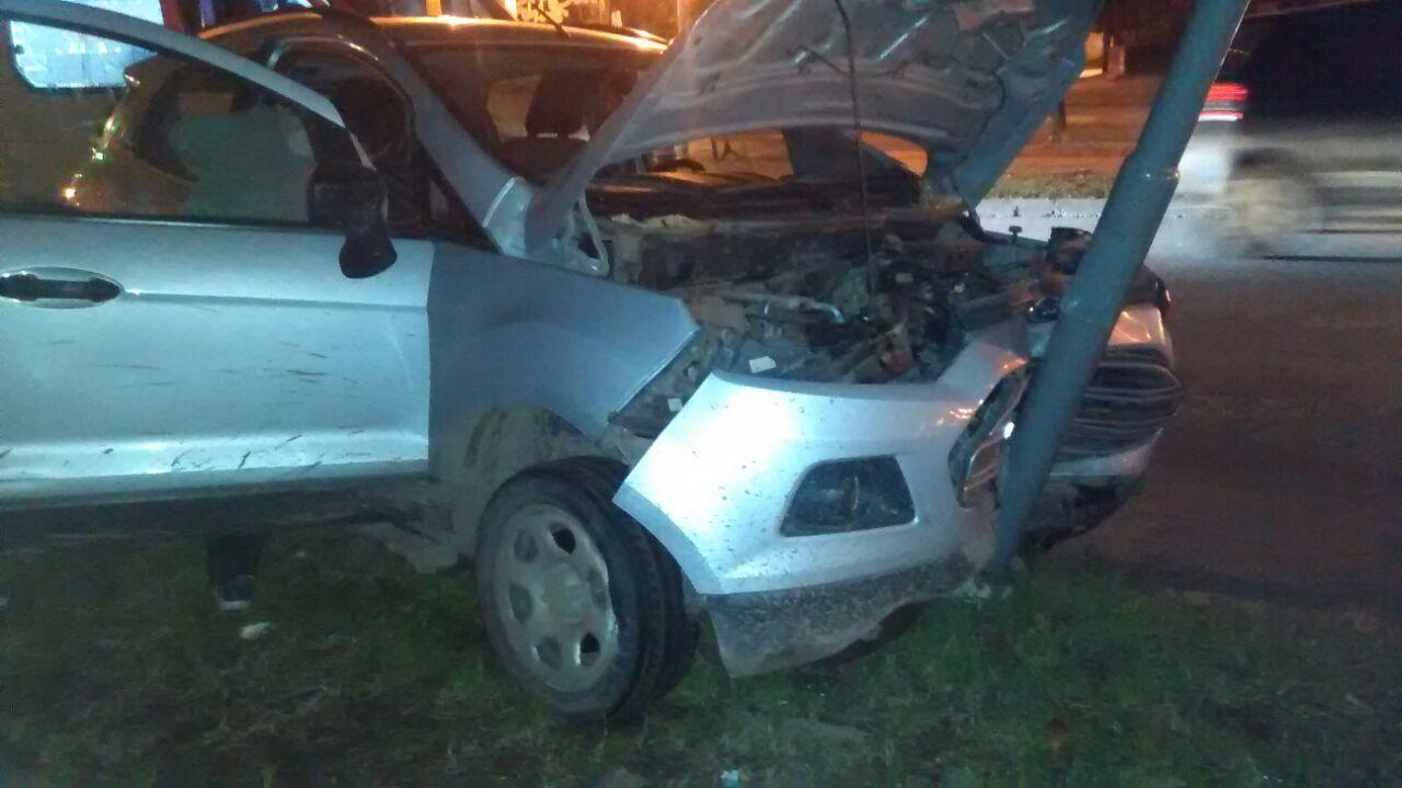 Un herido en un choque en JJ Pasó y Urquiza