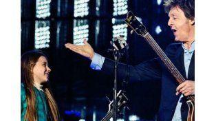 Leila, la nena que cumplió su sueño y tocó con Paul McCartney