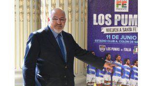 El máximo dirigente del rugby nacional brindó todo su apoyo al test que se jugará en Colón.