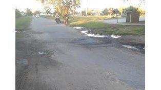 La calle está destruida en Chile entre Mendoza y Salta