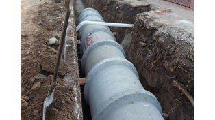 Avanza la obra del desagüe pluvial en calle Vieytes