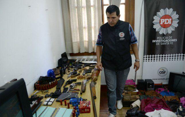 El resultado del allanamiento de la Policía de Investigaciones (PDI). El resultado del allanamiento de la Policía de Investigaciones (PDI).