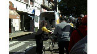 Accidente de tránsito durante una movilización en el microcentro santafesino