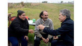 Agredieron al vendedor de tortas asadas que fue visitado por Macri