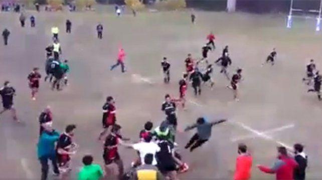 Batalla campal en un partido de rugby entre mendocinos y sanjuaninos