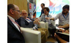 Diálogo. Guelar y el secretario de Agricultura Ricardo Negri