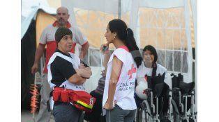 Asistencia. Desde la Cruz Roja esperan lograr una mayor interacción con los ciudadanos / Foto: Manuel Testi - Uno Santa Fe