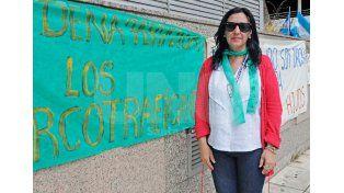 """En Tribunales. El hijo de la titular de la ONG fue imputado ayer por la fiscala Martí por la """"portación de un arma de guerra"""".  UNO de Santa Fe/Manuel Testi"""