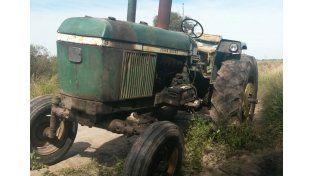 Robaron un tractor y lo encontraron en el Chaco