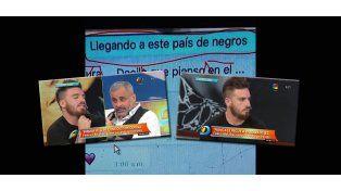 La captura de un chat privado de Fede Bal que terminó en viral por su mensaje xenófobo