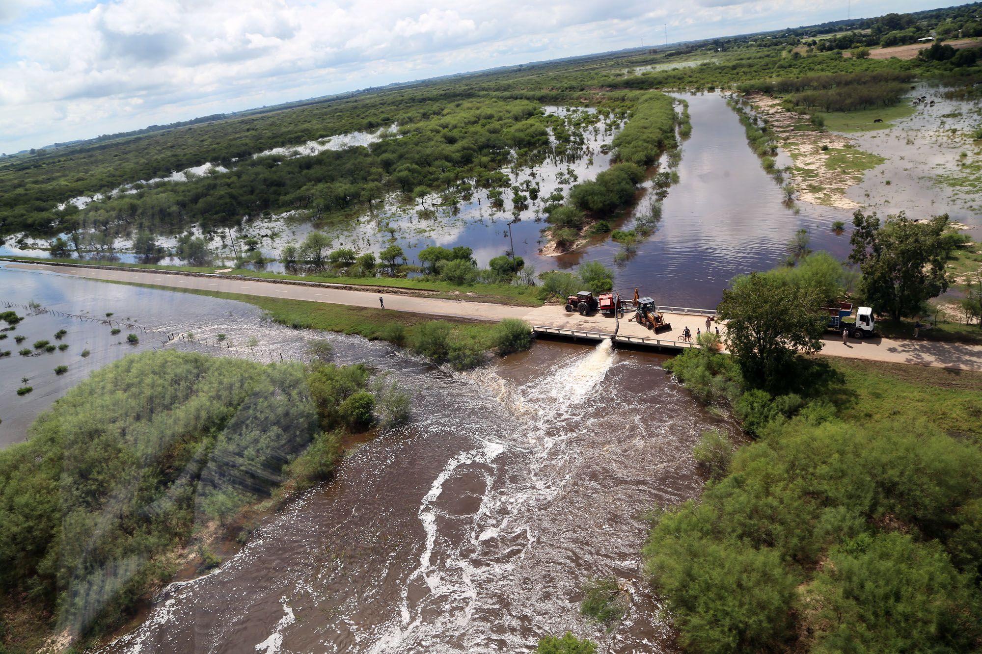 Urgente. Para realizar reparaciones de inmediato se decretará la emergencia vial. Gentileza: Gobierno de la provincia de Santa Fe