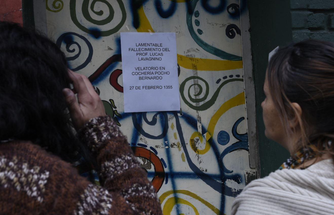 La escuela hoy no dicta clases por el fallecimiento del profesor Lucas Lavagnino. (Foto: S. Suárez Meccia)
