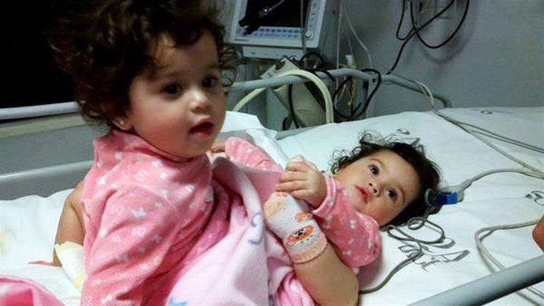 Murió una de las siamesas que fueron separadas en el Hospital Posadas