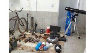 Los elementos robados y recuperados.