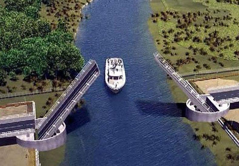 Terrible error: en Chile construyeron un puente levadizo al revés