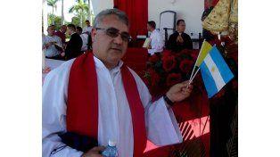 Néstor Monzón. El sacerdote de Reconquista pidió que lo reciban en una parroquia de Calchaquí.