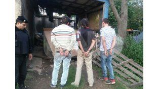 Los tres ladrones fueron aprehendidos