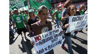 El sindicalismo en pleno realiza su primera protesta contra el gobierno de Macri