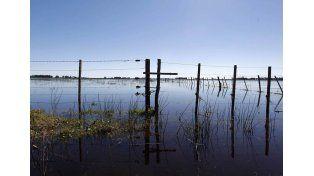 Emergencia. Con campos bajo agua