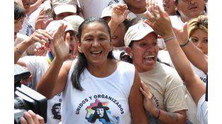 La dirigente del movimiento Tupac Amaru