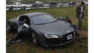 El Audi que manejaba Paladini despistó cerca de Circunvalación y la autopista a Córdoba. (Foto: Virginia Benedetto / La Capital)