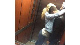 Más de Wanda, ahora publicó una imagen de amor en el ascensor