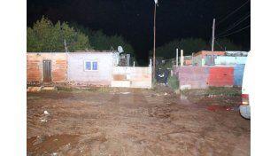 El lugar en donde ocurrió el homicidio en barrio Barranquitas.