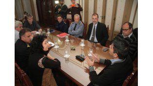 Dirigentes sabaleros se reunieron en el Ministerio de Seguridad luego de las agresiones que sufrió el plantel / Foto: Gobierno de la Provincia de Santa Fe