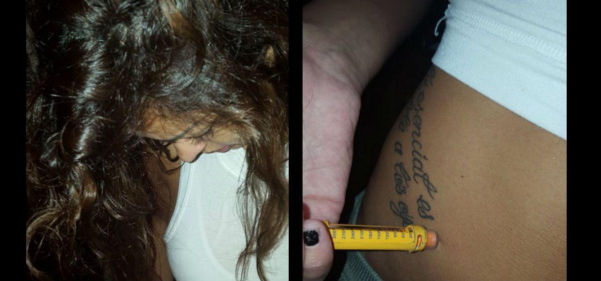 Impactantes fotos de Pamela Sosa inyectándose insulina