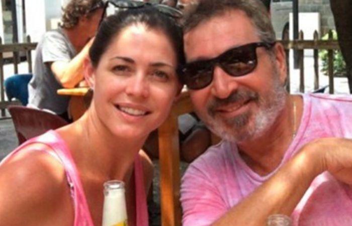 Pamela David y el empresario Daniel Vila durante su luna de miel.