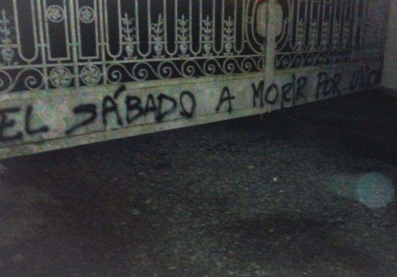 #ClásicoSantafesino: aparecieron pintadas en Casasol en apoyo al plantel Tatengue