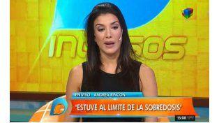 Andrea Rincón se confesó hoy en Intrusos