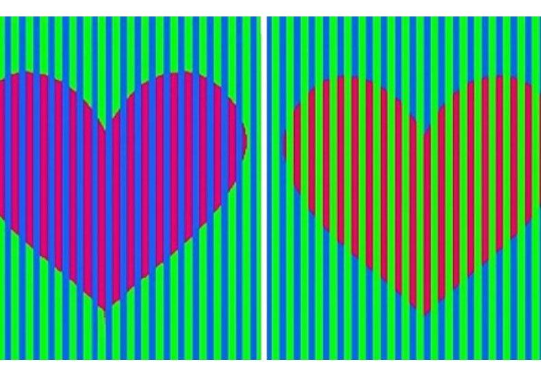 La ilusión óptica que se volvió viral: ¿de qué color son los corazones?