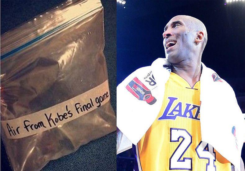 Subastan aire del último partido de Kobe Bryant